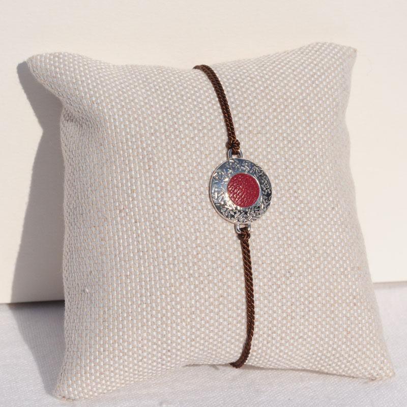 Bracelet argent et cuir artisan bijoutier Lyon