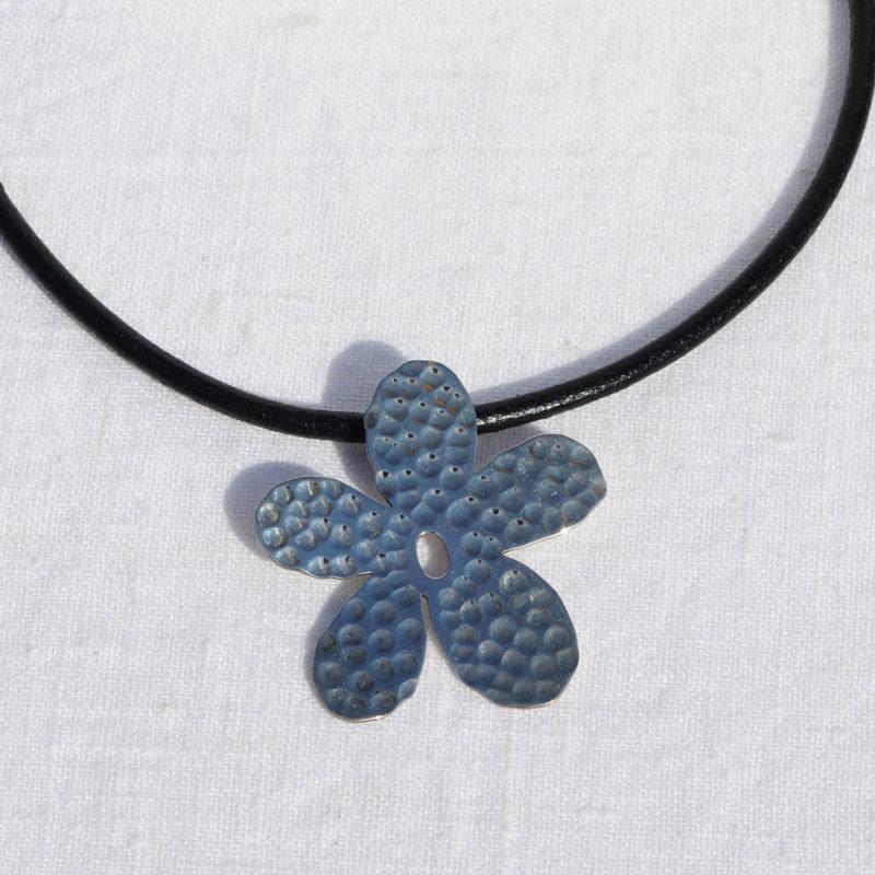 Collier argent Flower créateur bijoutier Lyon