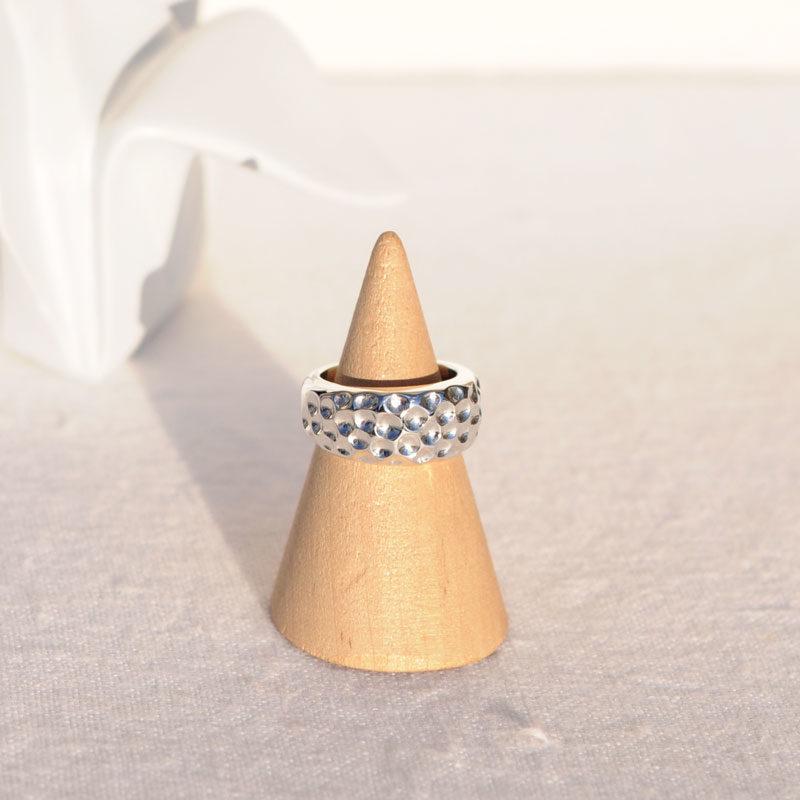 Bague argent hattie createur bijoutier lyon