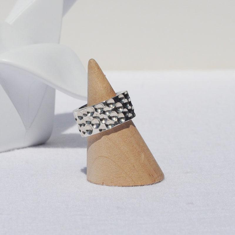 Bague argent Hortense créateur bijoutier Lyon