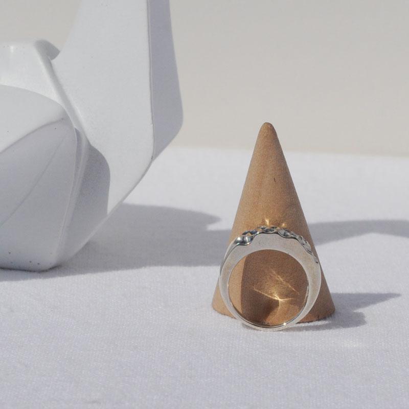 Bague argent Naîs artisan créateur bijoux Lyon