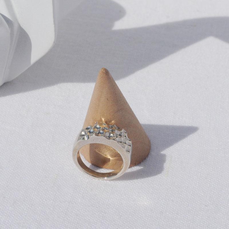 Bague argent Naïs artisan créateur bijoux Lyon