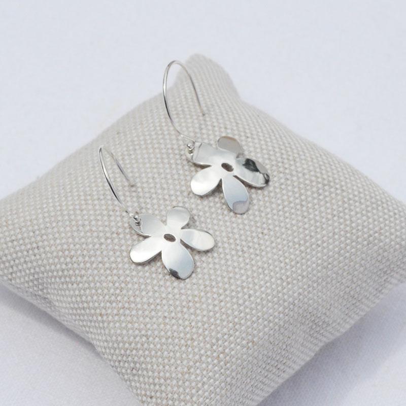 Boucles d'oreilles argent Flower créateur bijoutier Lyon