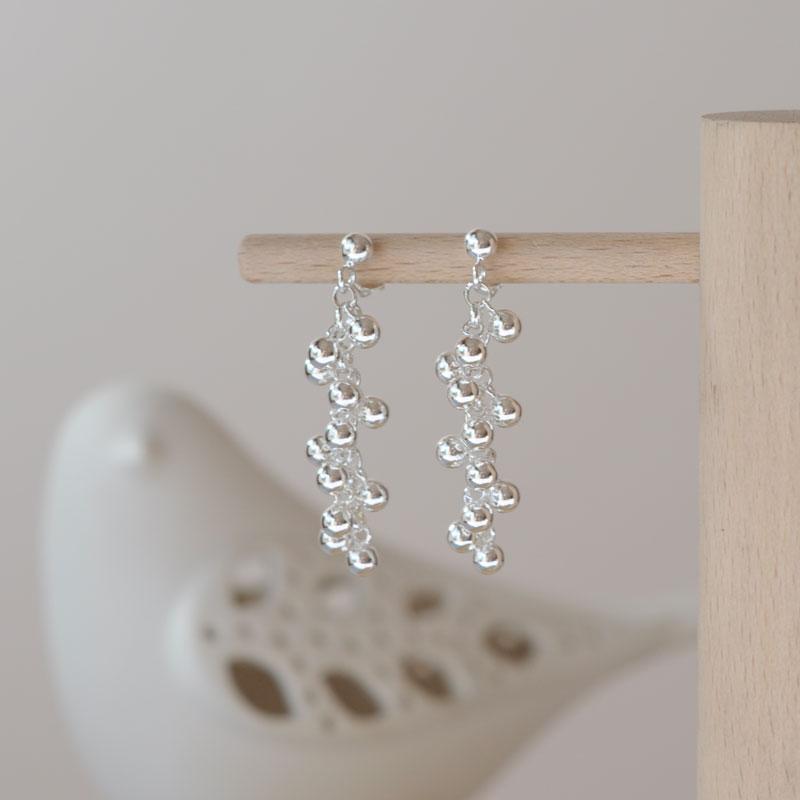 Boucles d'oreilles argent Perline artisan créateur bijoux Lyon