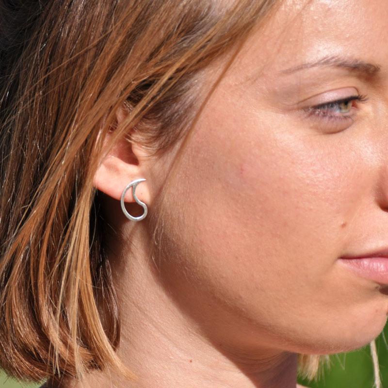 Boucles d'oreilles argent Yng-Yang créateur bijoutier à Lyon