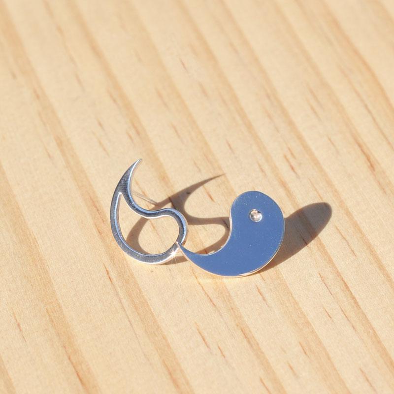 Boucles d'oreilles argent Yin-Yang createur bijoutier à Lyon