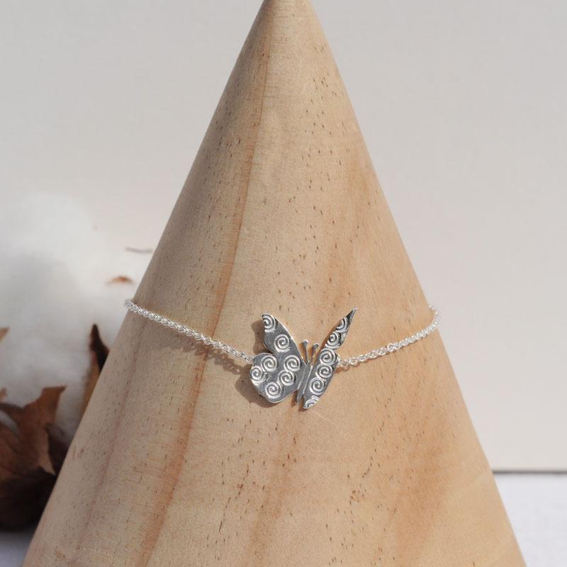 Bracelet argent Butterfly créateur bijoutier à Lyon