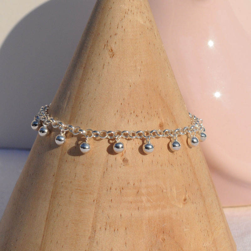 Bracelet argent Perline artisan bijoutier Lyon