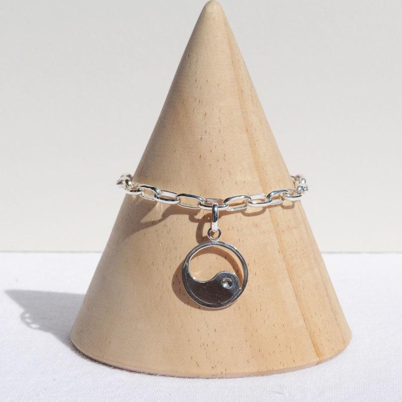 Bracelet argent Yin-Yang créateur bijoutier lyon