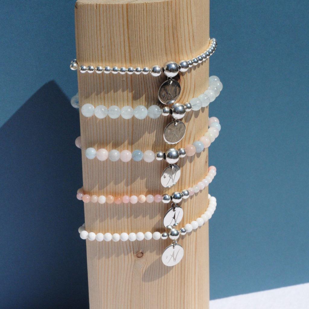 Bracelets Piedra Agate & Velours artisan créateur à Lyon