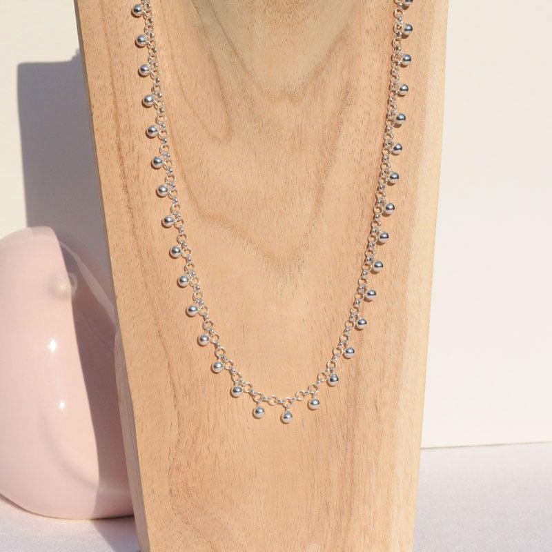 Collier argent Perline créateur bijoutier Lyon