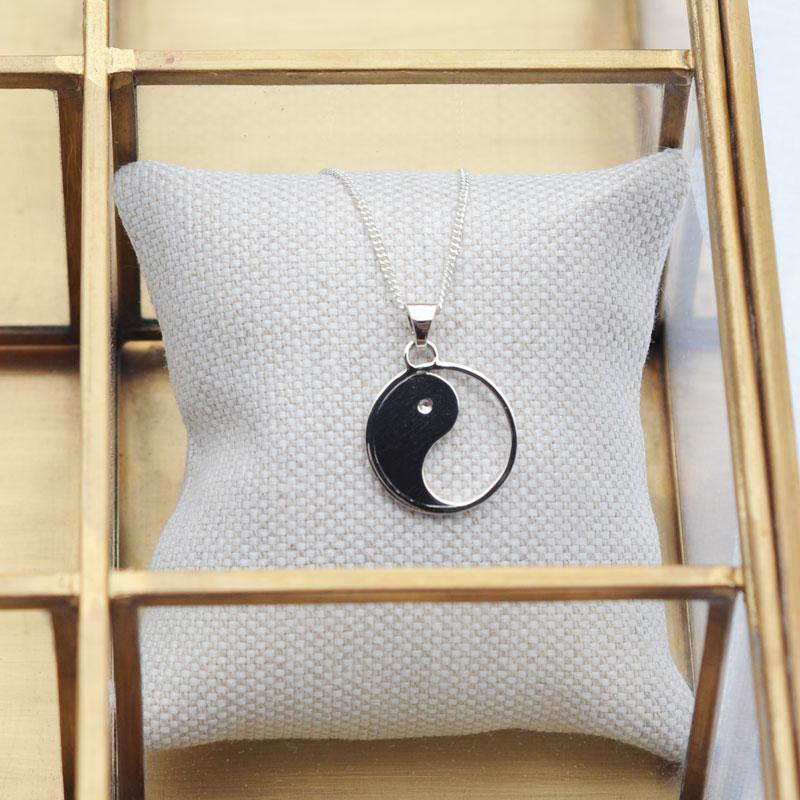 collier argent yin-yang création bijouterie lyon