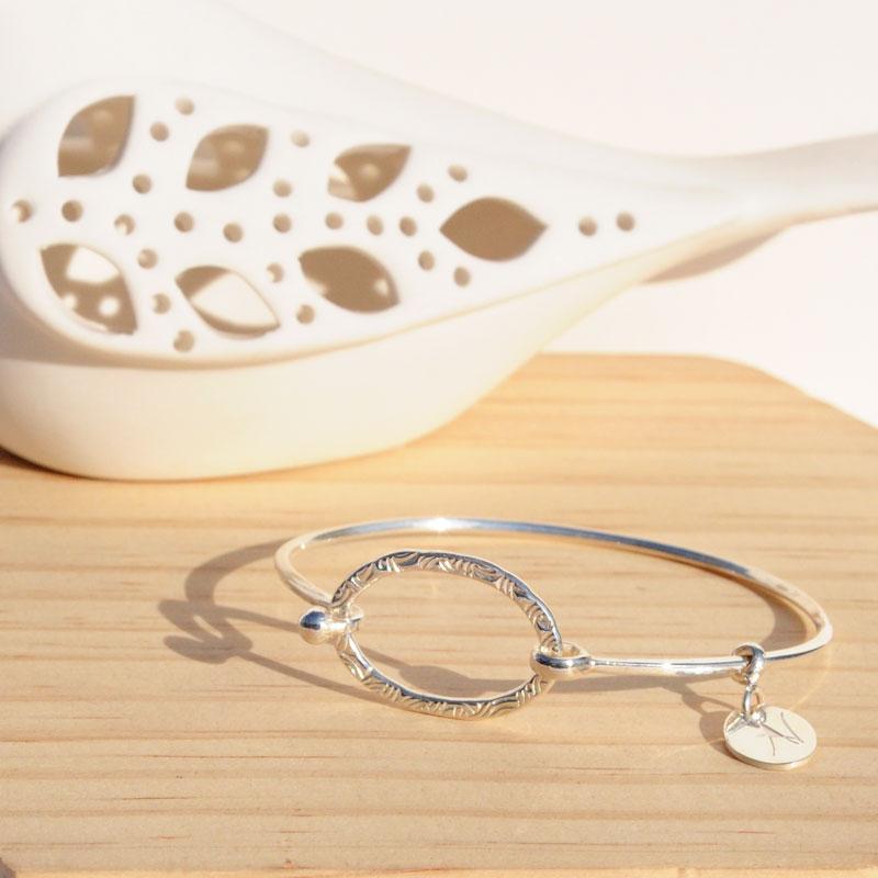 Bracelet jonc argent créateur bijoutier à Lyon