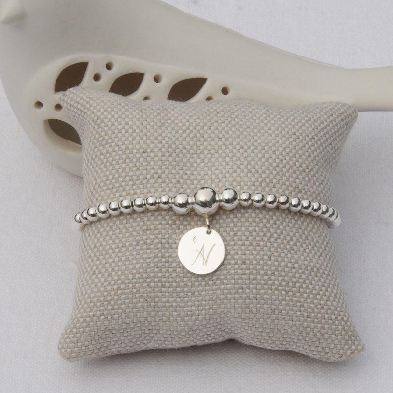 Bracelet perles argent Aloïs créateur bijoutier Lyon