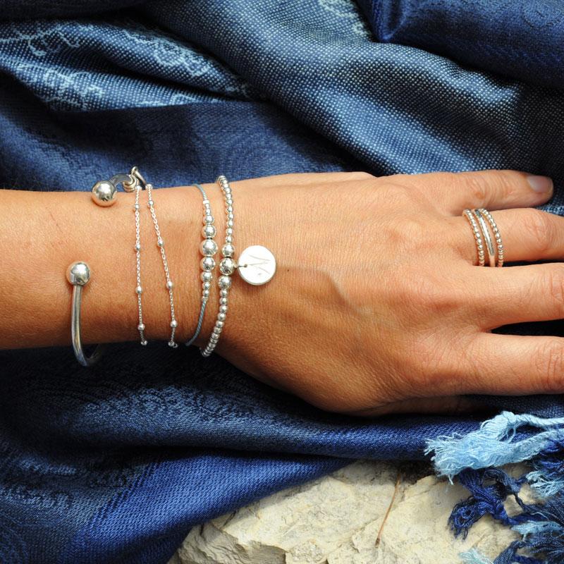 Bracelets perles argent Artisan créateur bijoutier à Lyon